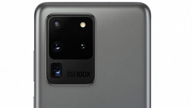"Samsung Galaxy S20 Ultra kommt mir 100x ""Space-Zoom"". (Bild: Evleaks)"