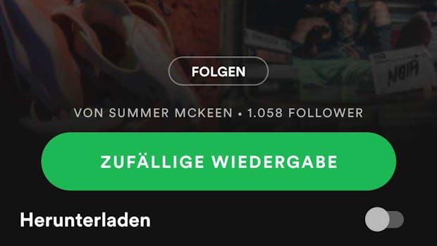 (Screenshot: Spotify / t3n)