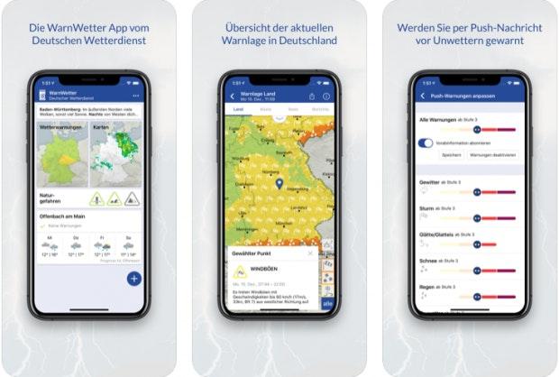 Warnwetter auf dem iPhone