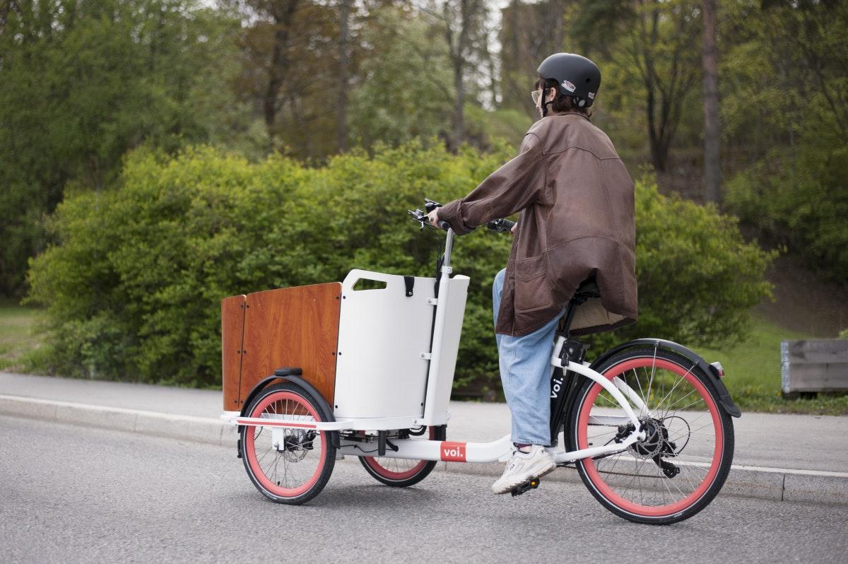 Das Cargo-Fahrrad des schwedischen Anbieters Voi. (Foto: Voi)