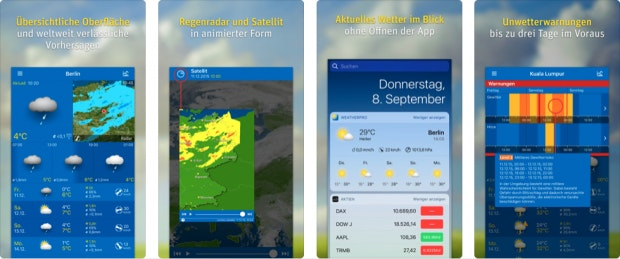 Weatherpro auf dem iPhone