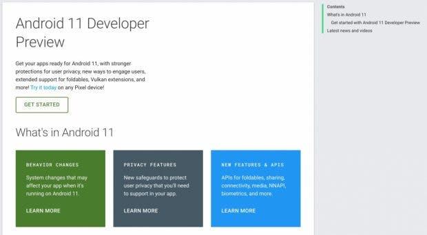 Die ersten Features von Android 11 sind bekannt. (Screenshot: Android Police)