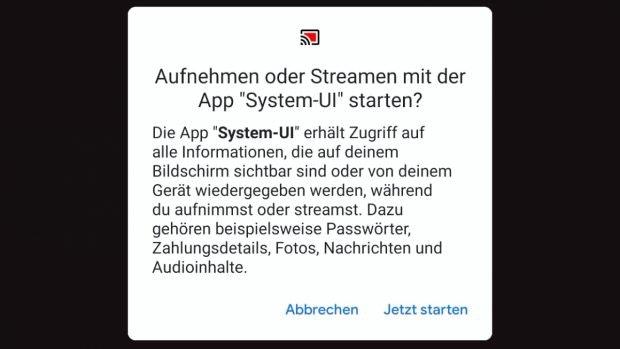 Android 11 hat einen Screenrecorder an Bord. (Screenshot: t3n)
