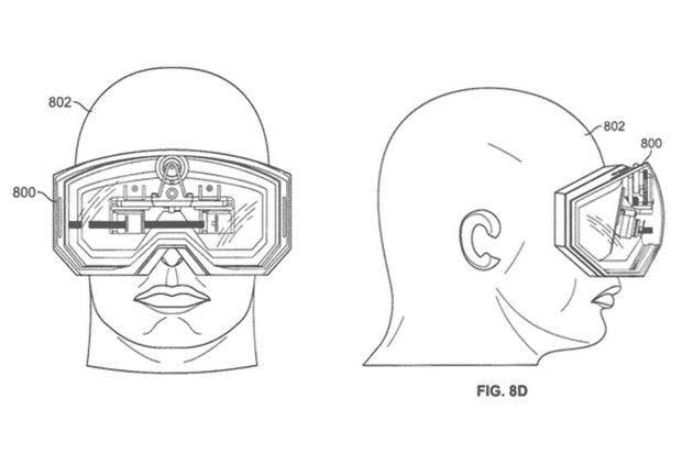Apple AR-Headset Patentskizze. (Bild: USPTO)