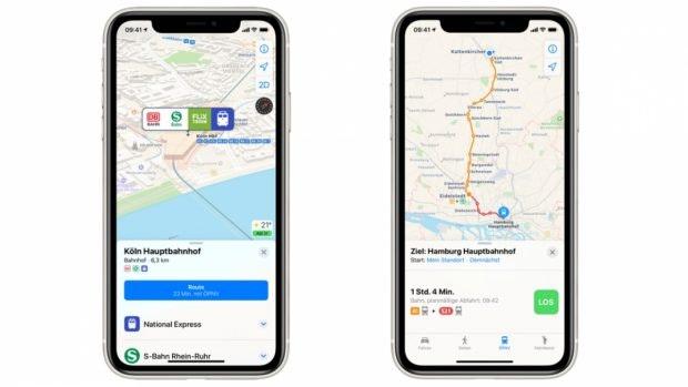 Apple Maps zeigt euch ab sofort ÖPNV-Infos in Echtzeit an. (Screenshot: Apple)