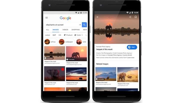 Google bringt Lizenzinformationen in die Bildersuche