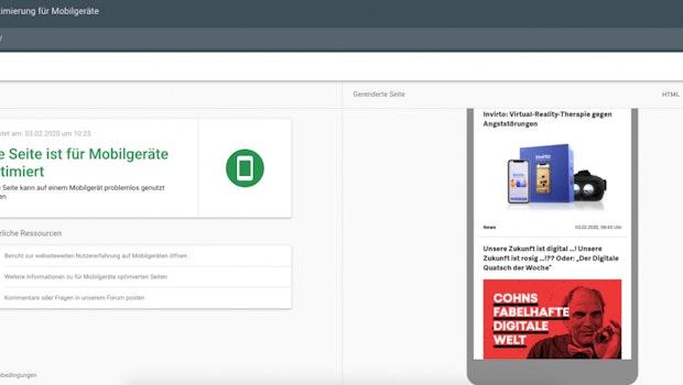 Wie gut performt eure Seite auf mobilen Geräten? Der Mobile-Friendly-Test von Google verrät es euch. (Screenshot: t3n)