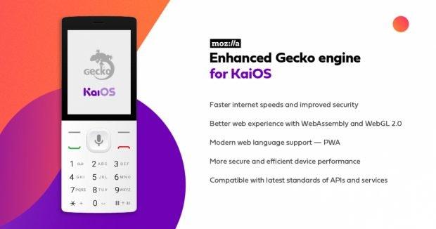 Einige KaiOS-Features, an denen Mozilla mitentwickeln will. (Bild. KaiOS)