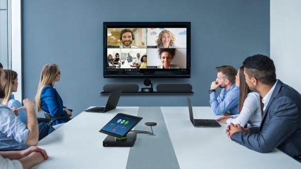 Videokonferenz Set mit Kamera und Freisprechen