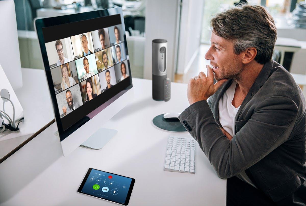 Videokonferenzen belasten