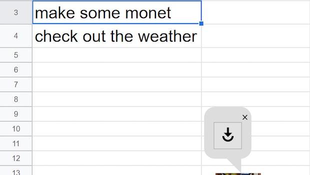 """Semantic ML kann auch zu witzigen Situationen führen. Statt """"Make some money"""" landete in der Demo der Tippfehler """"Make some monet"""" im System. (Bild: Google)"""