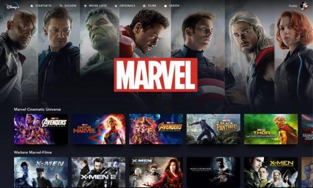 Disney Plus - Willkommen im Marvel Universum. (Screenshot: t3n)