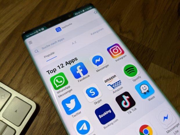 Die Appsuche auf dem Huawei Mate 30 Pro. (Foto: t3n)