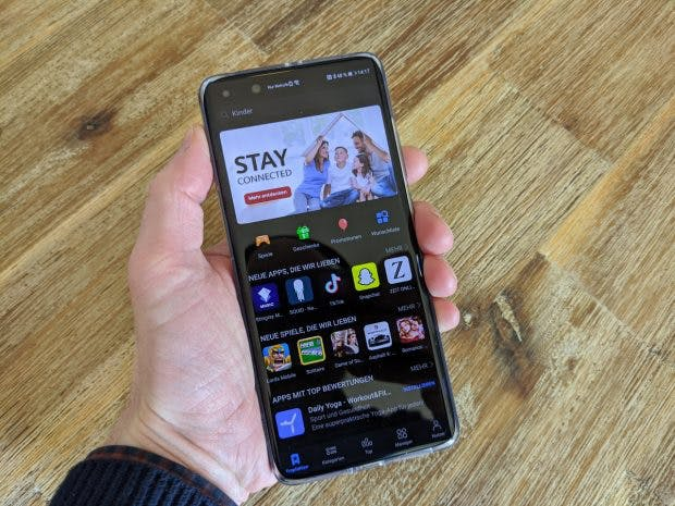 Huawei P40 Pro mit App-Gallery. (Foto: t3n)