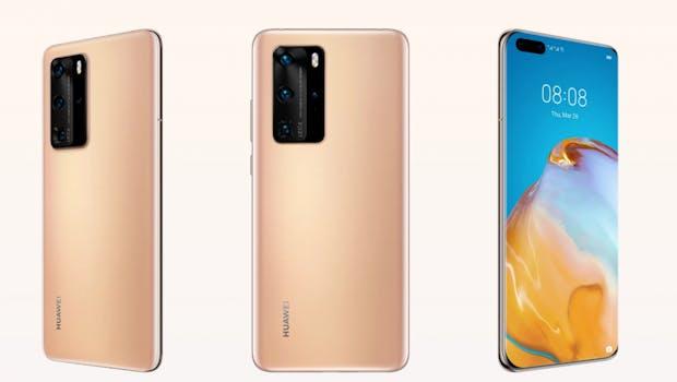 Huawei P40 Pro in Blush Gold. (Bild: Huawei)