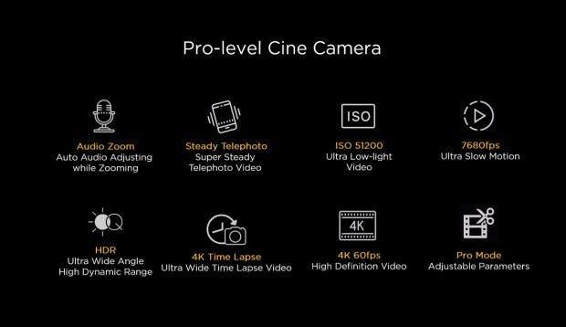 Die Huawei P40 Serie hat diverse Pro-Kamera-Features an Bord. (Screenshot: Huawei; t3n)