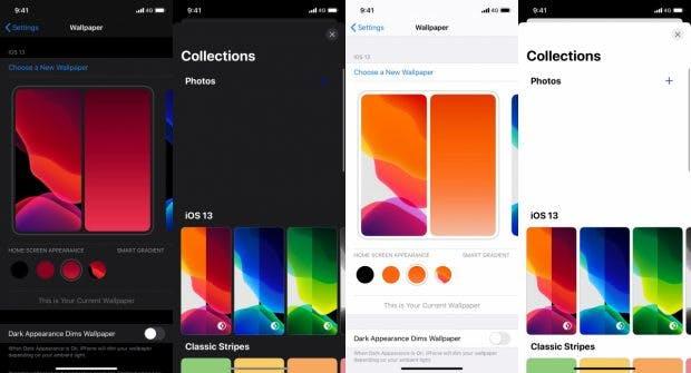 iOS 14 erhält wohl neue Wallpaper-Einstellungen. (Screenshots: Donglebookpro)