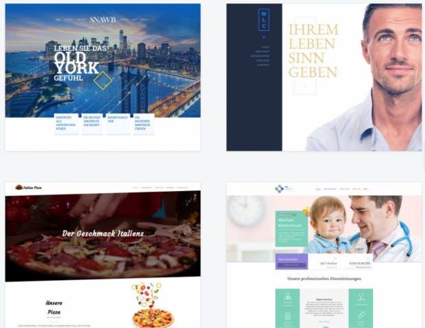 Homepage-Templates von 1&1.