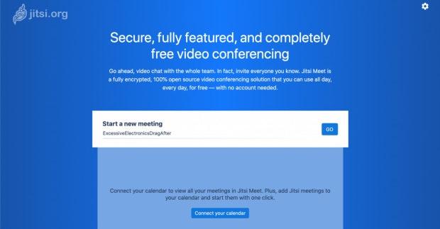 Eingangsportal für Jitsi-Meet-Videokonferenzen