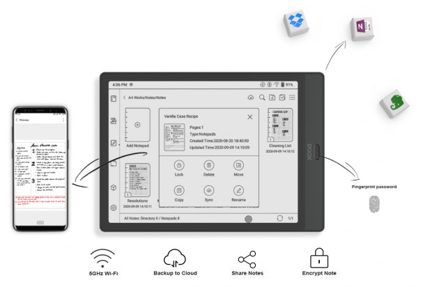 Android-E-Reader Boox Note 3 unterstützt Google Play