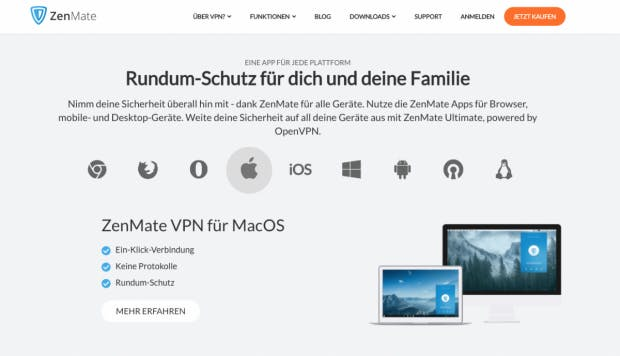 Zenmate Webseite