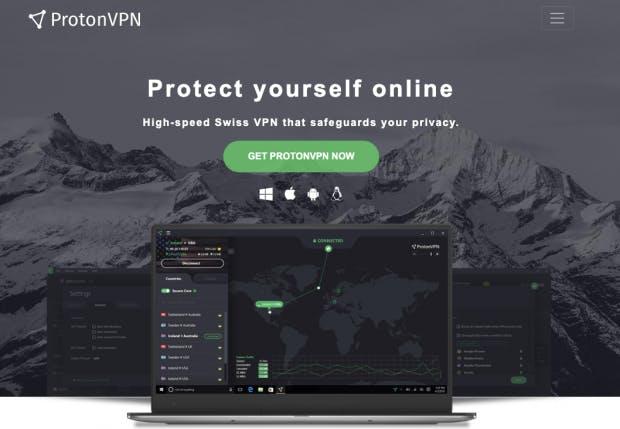Proton VPN Webseite