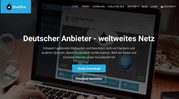 Shellfire Webseite