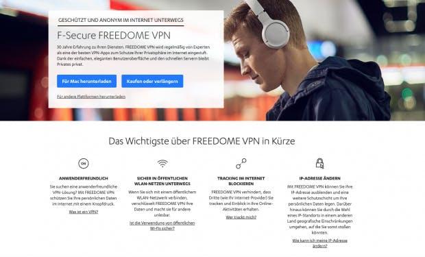 F-Secure Freedome und andere VPN-Anbieter im Vergleich