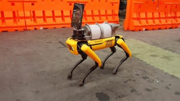 Robohund Spot im Coronaeinsatz. (Foto: Boston Dynamics)