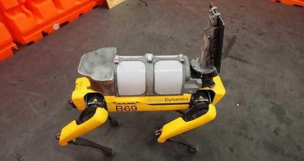 Robohund Spot hat noch freie Montageflächen für weitere Zwecke. (Foto: Boston Dynamics)