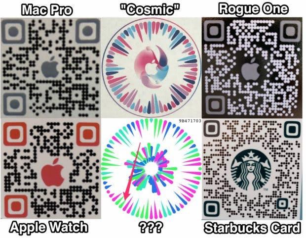 Geleakte QR-Codes der Gobi-App