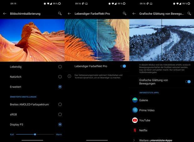 Oneplus 8 Pro Display-Einstellungen