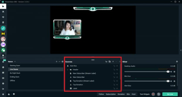 Streaming-Software Streamlabs OBS