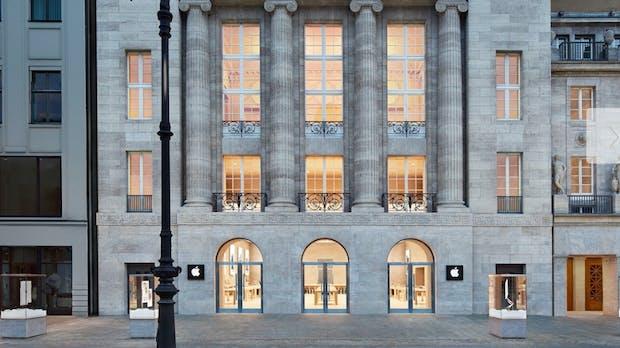 Mit Fiebermessung vor Einlass: Apple öffnet seine Stores in Deutschland wieder