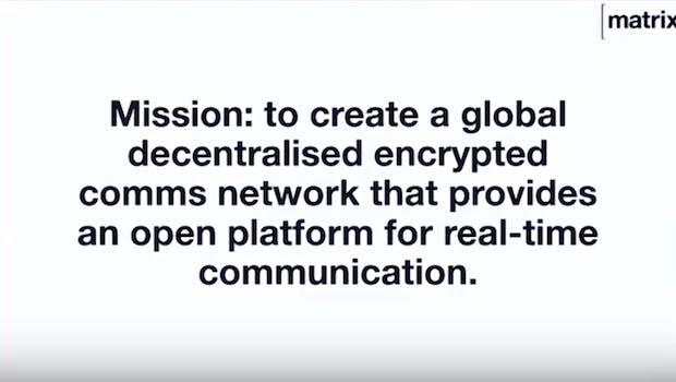 Matthew Hodgsons Präsentation von Matrix auf dem Web3 Summit. (Screenshot: t3n)