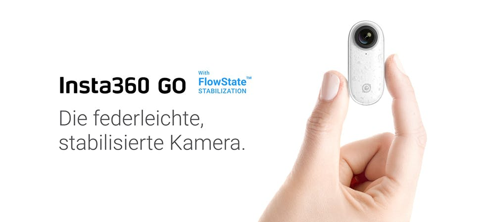 Action Insta360 Go - klein und stabilsiert