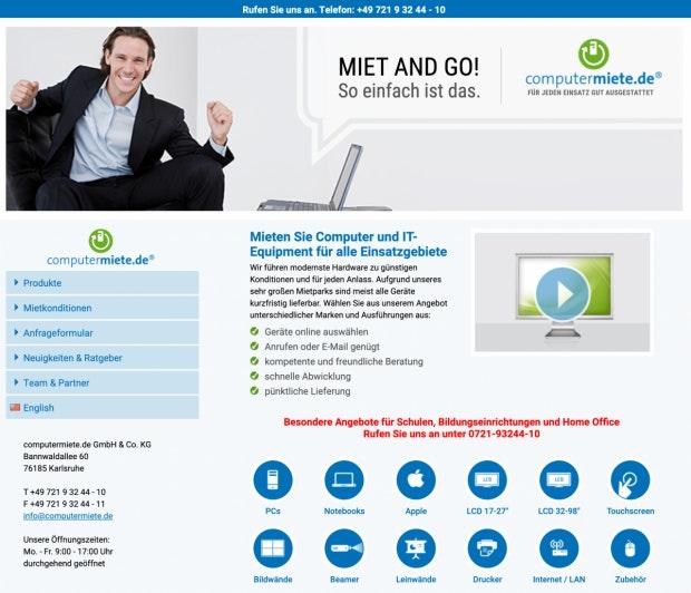 Computermiete.de Webseite