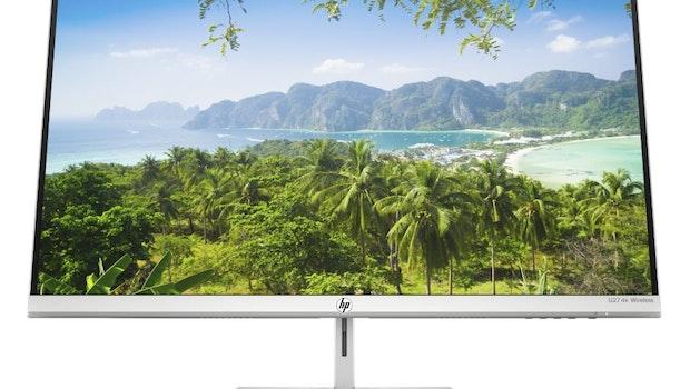 Der kabellose HP-U27-4K-Monitor. (Foto: HP)