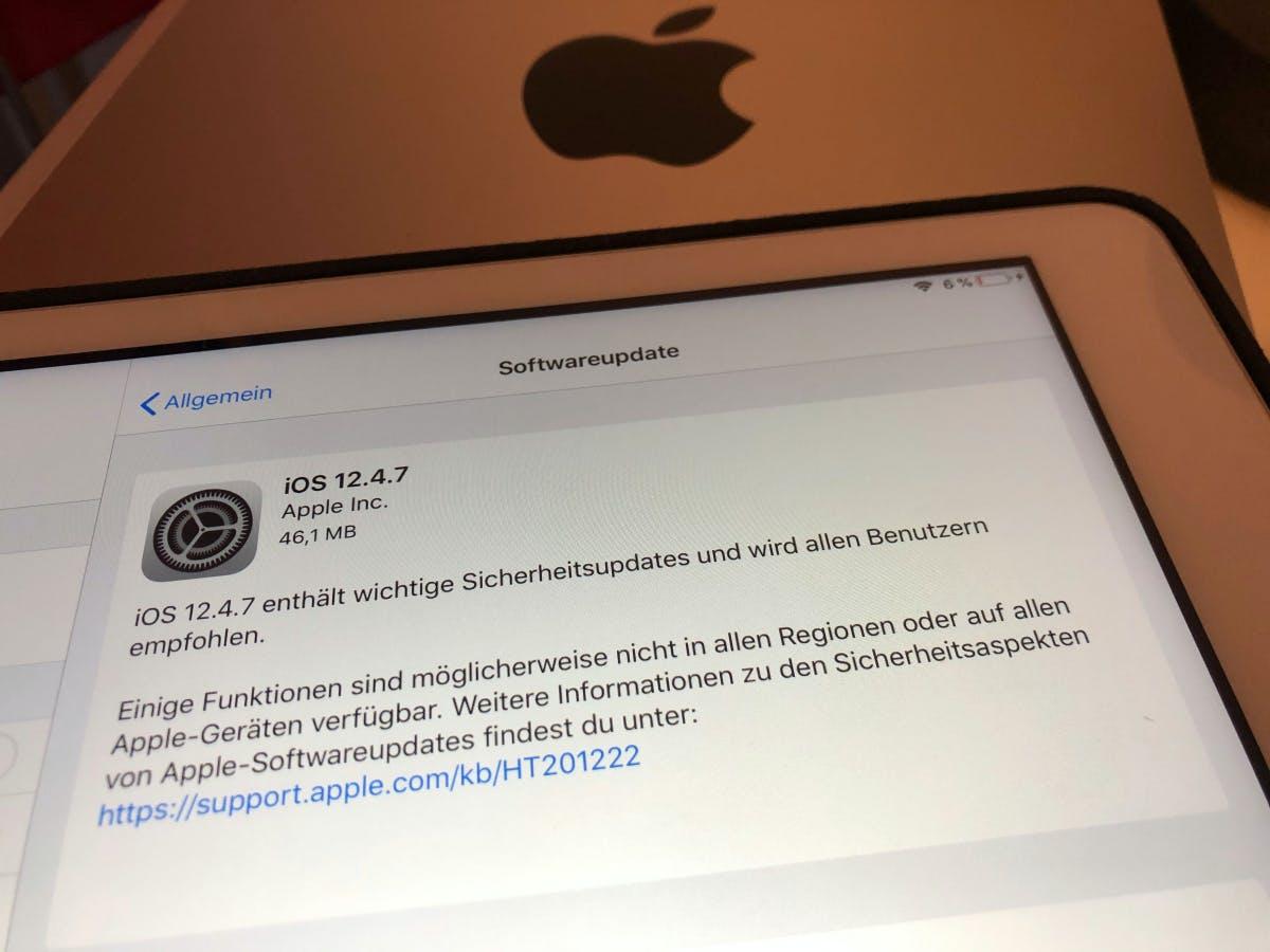 Für ältere iPhones und iPads: Apple veröffentlicht Update iOS 12.4.7
