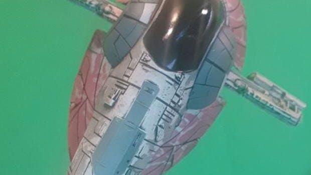 Ein weiteres Beispiel: Aus dem Foto eines Raumschiffmodells macht Pixel-me... (Bild: t3n)