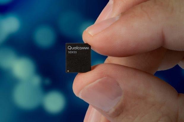 Qualcomms 5G-Modul X55 unterstützt bis zu 7 Gbit/s.