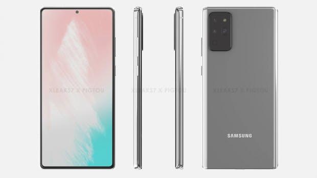 So soll das Samsung Galaxy Note 20 aussehen. (Bild: XLeaks; Pigtou)