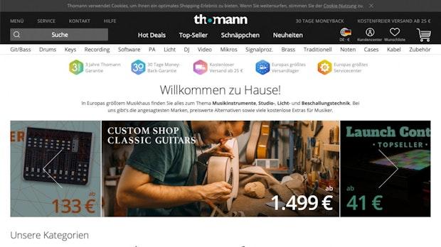 Die besten deutschen Onlinehändler: Amazon landet hinter Musikhaus Thomann