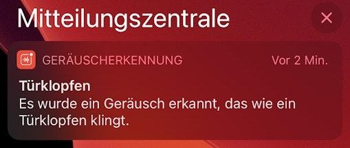iOS 14 Geräuscherkennung