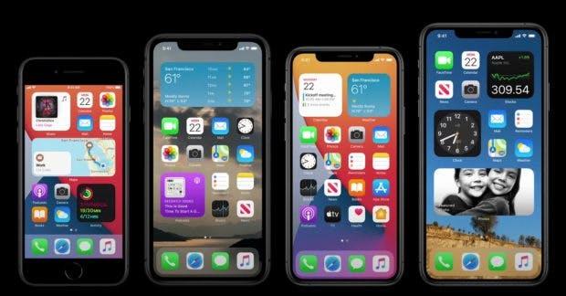 iOS 14 Homescreen mit Widgets