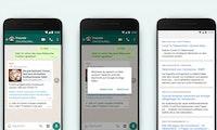 Fake News auf Whatsapp: Websuche soll gegen Falschmeldungen helfen