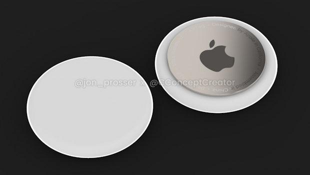 So sollen die Apple Airtags aussehen. (Bild: John Prosser)