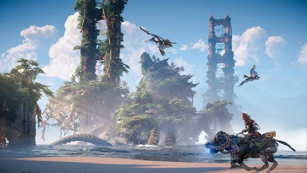Mit Horizon Forbidden West verspricht Sony ein episches Action-RPG-Abenteuer. (Quelle: Playstation/ Sony)