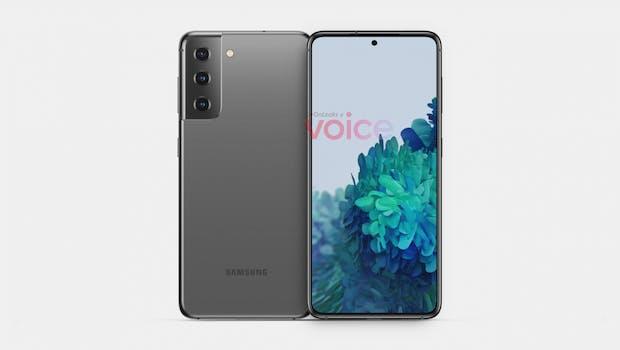 So soll das Samsung Galaxy S21/S30 aussehen. (Bild: Onleaks; Voice)