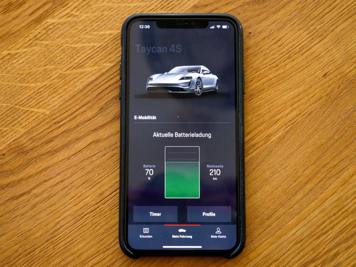 Porsche Taycan – App